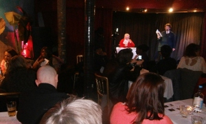 Appreciative audience at London launch