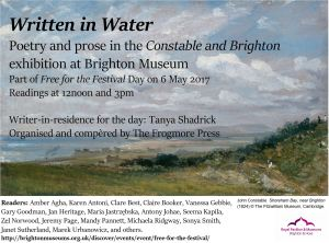 Written in Water Constable event 6 May poster